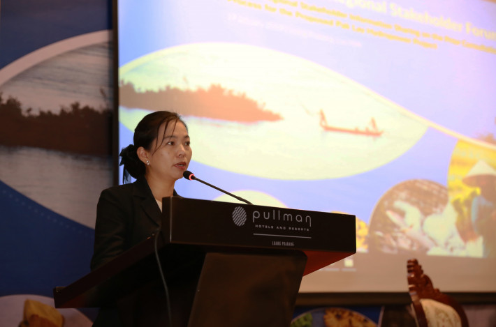 Ms. Phakhavanh Phissamy, Deputy Director General at the Department of Natural Resources and Environmental Policy