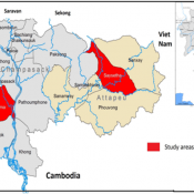 Joint fish monitoring sites in the Mekong Sekong river basins