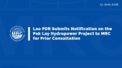 Lao PDR Submits Notificatio Pak Lay Hydropower Project2