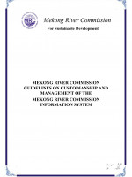 Guidelines on Custodianship and Management of the Mekong River Commission Information System