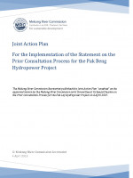 Joint Action Plan for the Implementation of the Statement on the Prior Consultation Process for the Pak Beng Hydropower Project