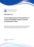 Joint Action Plan for Implementation of Statement on Pak Lay cover