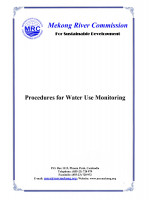 Procedures for Water Use Monitoring (PWUM)