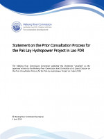 Statement on the Prior Consultation Process for the Pak Lay Hydropower Project in Lao PDR