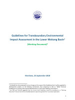 Guidelines for Transboundary Environmental Impact Assessment (TbEIA) in the Lower Mekong River Basin: A Working Document