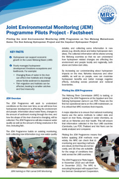 Joint Environmental Monitoring Programme Pilots Project Factsheet
