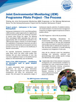 Joint Environmental Monitoring Programme Pilots Project: The Process